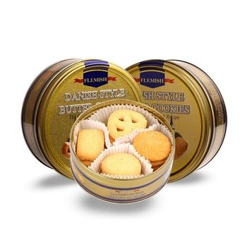 150g sweet low-fat crispy biscuit assorted Danish style Butter Cookies in tin