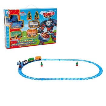 2020 hot sale thomas locomotive simulation plastic electric deformed rail train toy