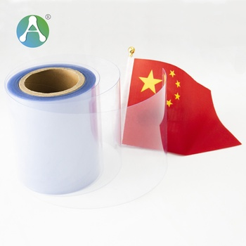 Factory wholesell 0.3mm super clear transparent rigid pvc rolls material pvc sheet in roll