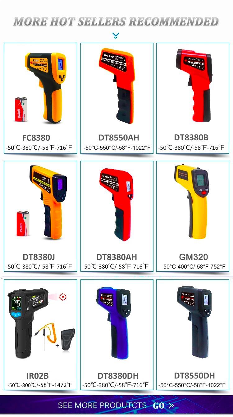 Termometros Numérique Sans Contact De Température Portable Thermique Infrarouge Pistolet Thermomètre de Cuisine pour L'industrie