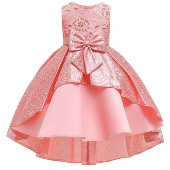 Vintage Formal Ruffles Lace Dress Wedding Evening Frocks For Little Girls