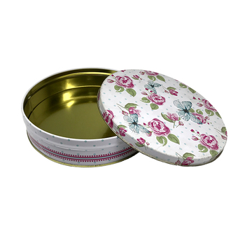 Spot Wholesale Empty Food Round Metal Packaging Food Cookie Cake Tins Can