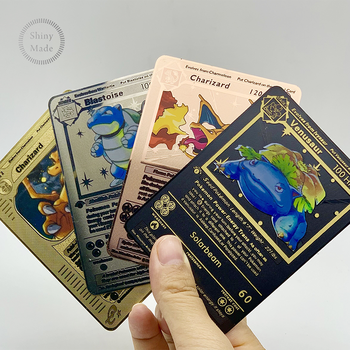 2020 Latest English Version Metal Pokemon Cards!Pokemon MEGA EX Trading Card Game carte pokemon