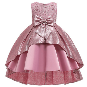 Cocktail Dresses Party Dresses Peal Embroidery A-Line Evening Dresses For Kids Girls Wedding Frocks