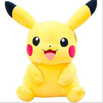 2021 New Design Kawaii Anime Pikachu Pokemon Soft Toys Custom Yellow Cute Pokemon Stuffed Animals