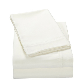good quality custom white queen 100% cotton flat bed sheet 4 pieces for bed