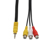 Macho a hembra de 3,5mm a 3 RCA de audio DC17mm 3RCA AV Cable ESTÉREO