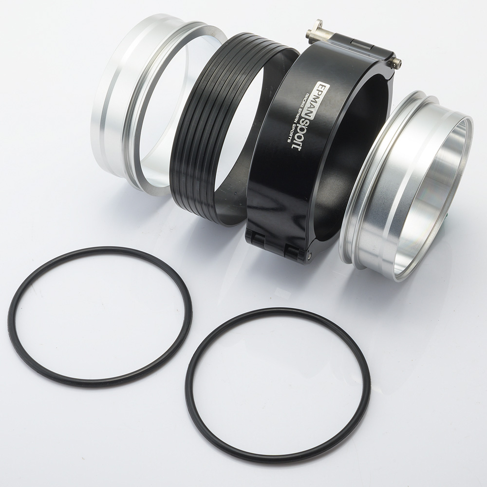 EPMAN EPSS63KB-BKF Exhaust V-Band Clamp Quick Release HD Clamp Aluminium for 2.5 OD Turbo Intercooler Pipe