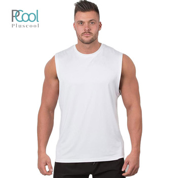 Wholesale mens fitness muscle polyester tank tops