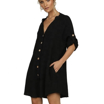 Wholesale Italian Casual Long Sleeve Womens Dresses in autumnal
