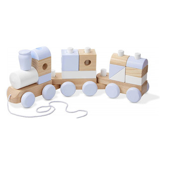 A train toys wooden interesting wooden toy for kids play on the holiday