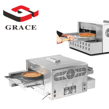 Grace Kitchen Conveyor belt pizza oven 12inch 18 inch Gas commercial Conveyor Pizza Oven for sale