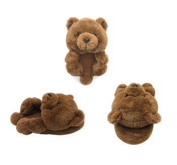 Kids Teddy Bear Slippers new designs outdoor Teddy Bears Wholesale Children's Slippers