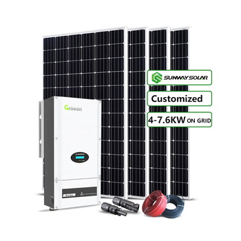 Solar Panel Kit Complete Solar System 3000w 4000w 5000w on Grid Industrial Commercial Mono Polycrystalline Roof Mounting N/A