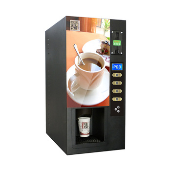 Store Commercial Instant Coffee Vending Machines with Coin Operated maquina de cafe espresso