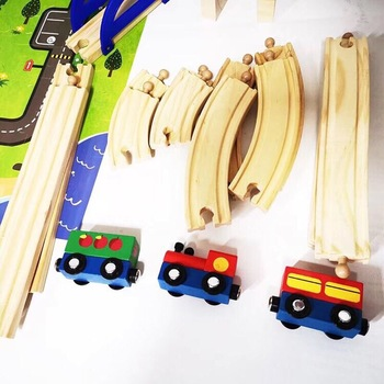 Wooden Slot Toy Thomas Educational Train Track Toys For Kids