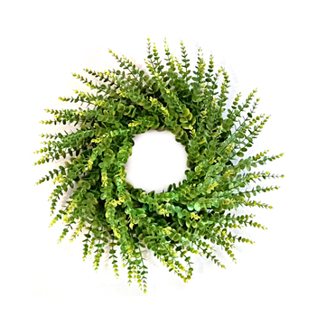 New Products Green Round Decorative Artificial Green Spring Boxwood Wreath For Door