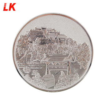 Factory Custom 2d logo minting stamping silver souvenir coin