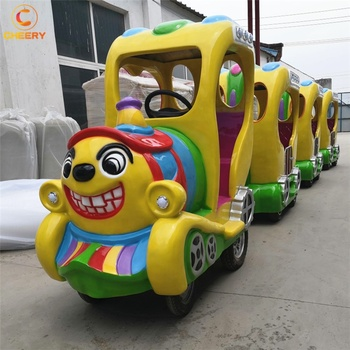 Original manufacturer amusement park rides carnival game electric clown thomas trackless train for mall