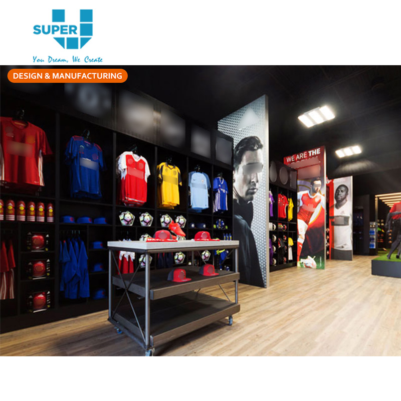 Custom Professional Football Boots Jersey Retail Display Football Store Interior Design - Buy Football Display,Football Store Design,Football Store ...