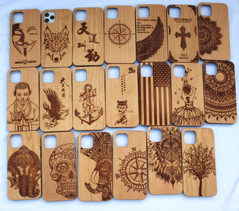 2020 Customize Design Natural Real Wooden Hand Carved Wood Cell Phone Case Cover For iPhone 11 pro max