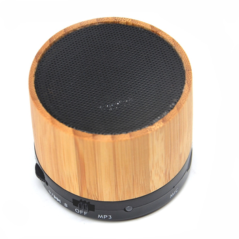Hot Sale Natural Wireless Bamboo Wooden Mini Bluetooth Rechargeable Stereo Speak Portable Wireless Outdoor Speaker