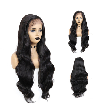 "X-TRESS Lowest Price 30"" Long Curly Side Part Black Pre-colored Wig Wavy Natural Hair Wigs Synthetic Lace Front Wig For Women"