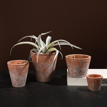 Wholesale matte terracotta flower stand / home decoration antique ceramic plant pots for indoor outdoor