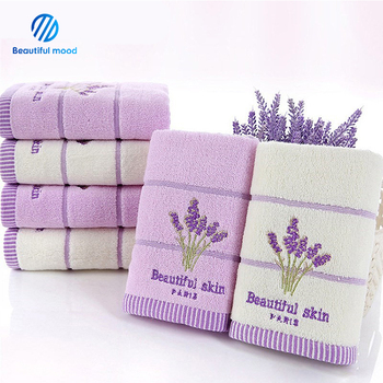 Luxury hotel collection embroidered hand towels 100% cotton white hotel supplies custom logo