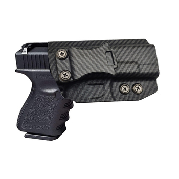 Custom Hot Sale IWB Kydex Black Carbon Fiber Concealed Carry Case Inside Waistband Claw Compatible Glock Gun Holster