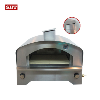 2020 new model professional stainless steel outdoor garden bbq gas pizza ovens for baking pizza