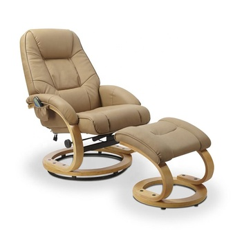 pu or Genuine leather leisure massage chair recliner chair with footstool, leisure recliner with ottoman chair with massage