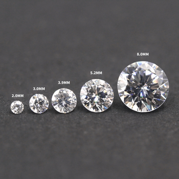 Redleaf Jewelry Wholesale high quality Loose Gemstone AAAAA Small Size Round White Cubic Zirconia gems for Jewelry making