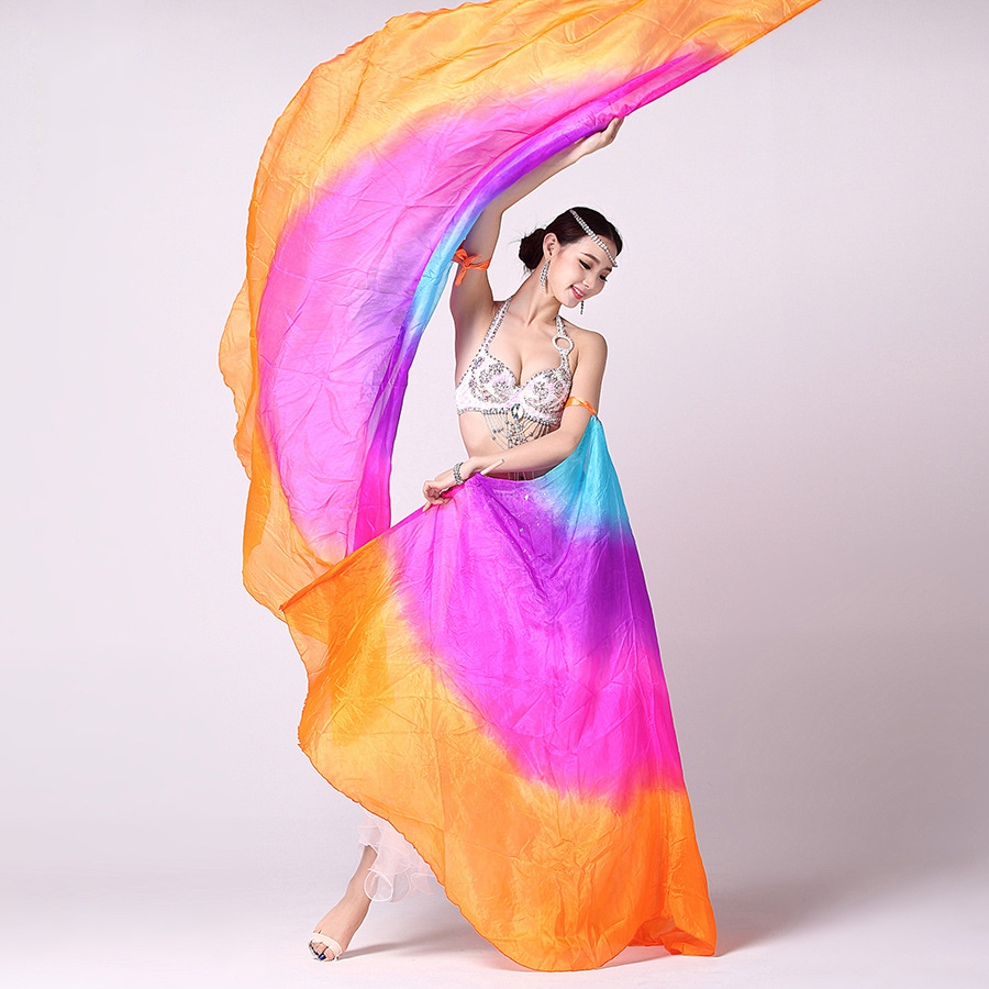 BestDance Belly Dance Silk Isis Wings Performance Dancing Silk Wings Belly Dance Silk Veils