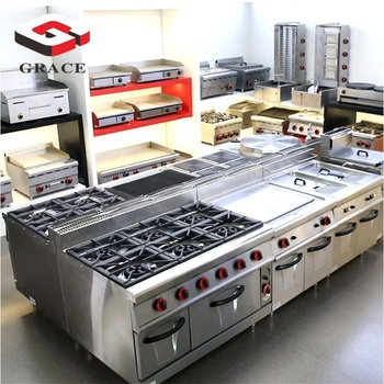 Factory Supply Stainless Steel Full set Industrial Fast Food Restaurant Hotel Commercial Kitchen Equipment