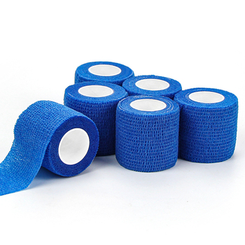 Medical suppliers colored cotton self adhesive cohesive elastic bandage