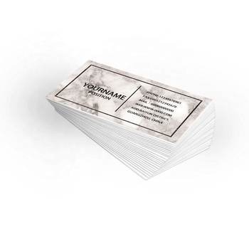 Luxury custom paper card printing logo black and white business cards