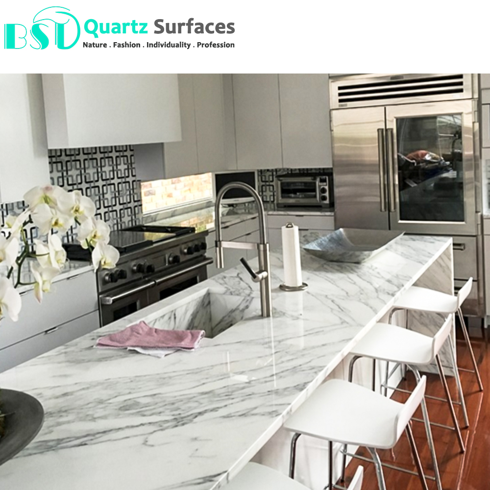 Veined Quartz Stone For Kitchen Dining Table Top   Buy Dining Table Quartz  Stone,Quartz Top Kitchen Table,Stone Quartz Table Product on Alibaba.com