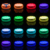 13 LED Color Changing Remote Controlled LED Submersible Lights with Suction Cups&Magnet Waterproof Bathtub Lights 3AA Battery