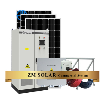 100KW On grid Solar Energy System with Sun Energy Solar Panels for commercial or Industry Electricity