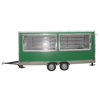 Shanghai stainless steel food cart mobile hot dog carts restaurant trailer fast snack carts selling food truck with ce