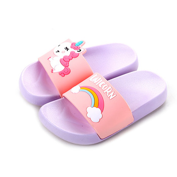 Children's Slippers Cute Cartoon Unicorn Children's Toddlers Boys and Girls Baby Non-Slip Bathroom Parent child shoes Slippers