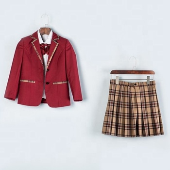 Fabric Customizable For Uniform School Design Modern Design For Japanese School Girl Uniform