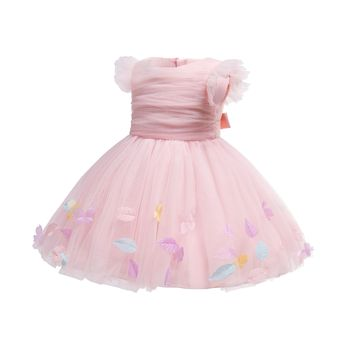 China Supply boutique tutu dresses for kids girls new baby girl dress backless design frock