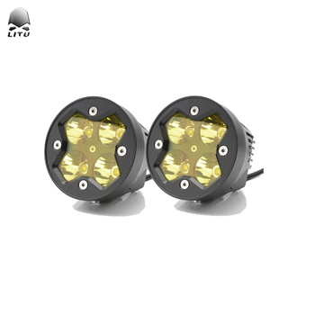 2020 LITU Auto Lighting System 40W LED Work Lights 3 inch Motorcycles Projector Offroad LED Yellow White Fog Light for Truck ATV