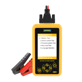 Autool Bt460 12v / 24v Battery Load Test Heavy Duty Automotive Power Digital Auto Charging Starting System Meter Battery Tester
