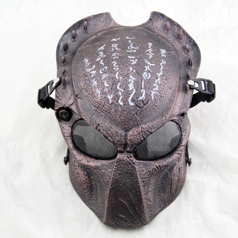 Predator Wolf 2.0 Tactische Paintball Masker Cosplay Halloween Party Militaire Leger Cs Wargame Airsoft Metal Mesh Volgelaatsmaskers