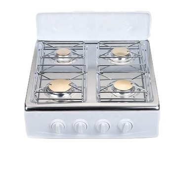 Stainless steel big 4 burner gas stove glass top gas cooker, gas cooktop