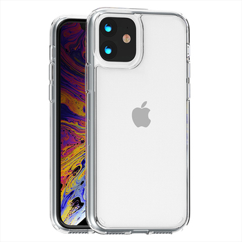 For Iphone 12 11Pro Max 6 7/8 PLUS XR XS MAX phone case clear Transparent Acrylic back Silicon Soft TPU Clear Cover Mobile Case