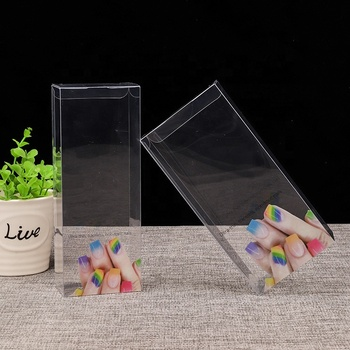 Custom Packaging Pack Package Gift small Foldable Square Rectangular Pet Pvc Transparent Clear Plastic Box